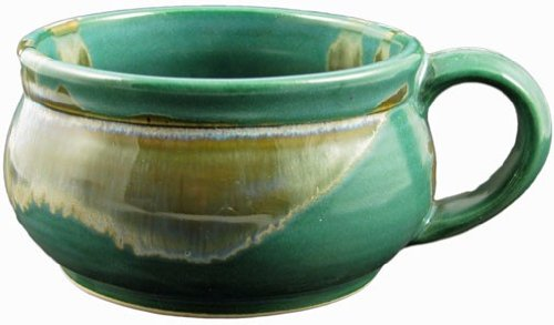 (1) One Individual - PRADO STONEWARE COLLECTION - Stacking/Stackable Soup, Chili, Stews Cups/Mugs/Bowls - Matte Green