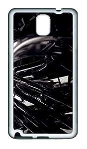3D Black TPU Custom Samsung Galaxy Note 3/Note III/N9000 Case and Cover - White