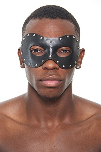 Zorro Steam Punk Masquerade Mask with Studs (Unisex; One Size Fits All; Black) (Mask Of Zorro Sword)