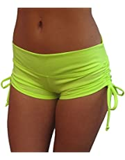 Delicate Illusions Drawstring Stretch Yoga Pole Fitness Scrunch Butt Shorts