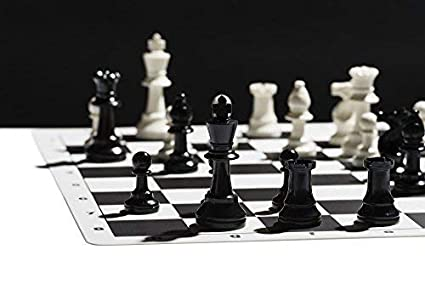 Chess Strategy Guide and Game Box Chess Board Game with Triple Weight Tournament Pieces Best Chess Set Ever Black Silicone Chess Board