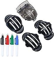 Golf Ball Markers Set, Golf Ball Alignment Tool Line Drawing Tool, 4 Golf Ball Marking Stencils, 4 Colors Golf