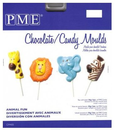 PME CM405 Chocolate/Candy Mold-Animal Fun, Standard, Transparent ()