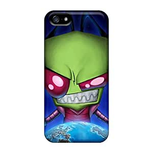 Protective Hard Phone Covers For Iphone 5/5s (iHo3102oBNE) Allow Personal Design Beautiful Zim Invader Zim 16153 Cartoonss Pictures