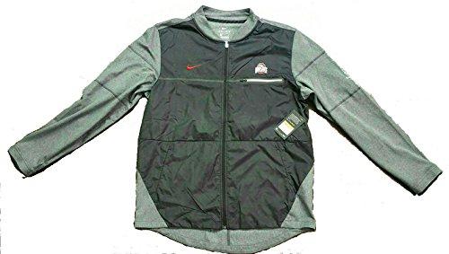 Nike Sideline Jacket (Nike Men's Ohio State Buckeyes Sideline Elite Hybrid Shield Jacket 845906-011 (Large) Black/Gray)