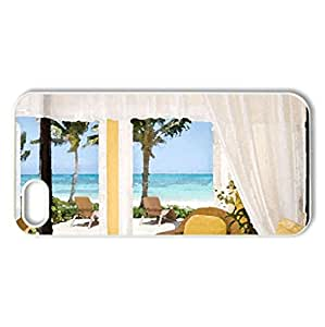 Place for a relaxing Sunday... - Case Cover for iPhone 5 and 5S (Watercolor style, White)