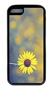 iPhone 5C Case, Personalized Protective Rubber Soft TPU Black Edge Case for iphone 5C - Sunshine Daisy Cover