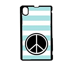 Love Squirrels Baby Pink Stripes Circle Hipster Sony Xperia Z1 L39H Case - Fits Sony Xperia Z1 L39H
