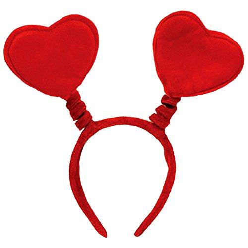 Soft Felt Valentines Heart Headband Bopper ()