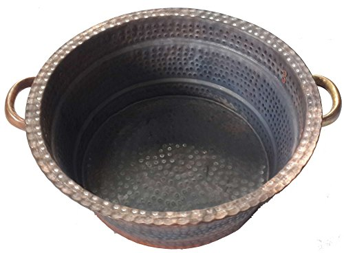 Egypt gift shops Petite Fire Burnt Diabetic Foot Massage Bath Pedicure Spa Beauty Salon Handles Bowl by Egypt Gift Shops