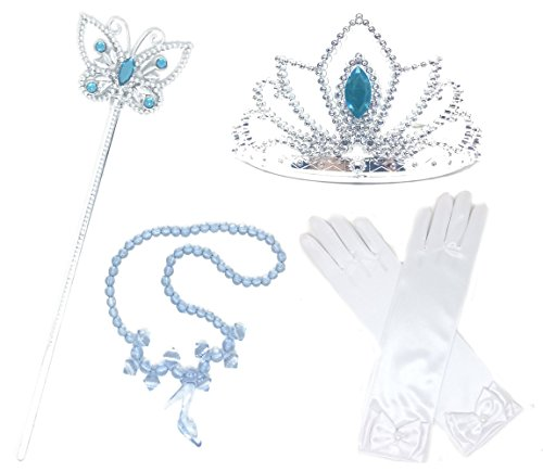 Cinderella Costume 2-3 - Princess Cinderella Dress up Party 4-Piece Accessories Gift Set (Cinderella)