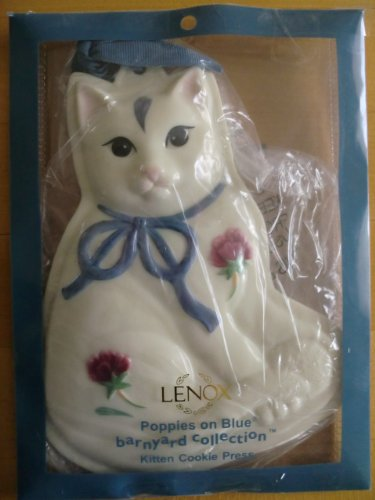 Lenox Poppies on Blue Kitten Cat Cookie Press