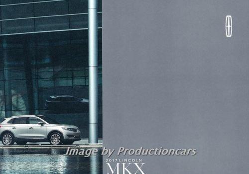 2017 Lincoln MKX 30-page Original Car Sales Brochure Catalog - Lincoln Mkx Colors