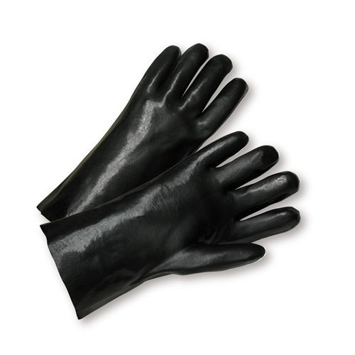 West Chester 1027 Cotton Glove, Chemical Resistant, Gauntlet Cuff, 12