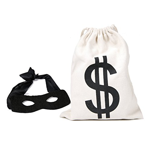 Mask Costume Robber Bank (Black Eye Mask +