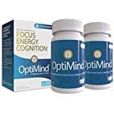 OptiMind Nootropics Brain Booster Supplement, Enhance Focus and Energy, As Seen on Netflix, 2-Pack (32 Ct Each)
