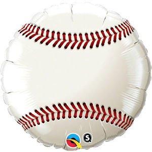 (36 Inch Baseball Mylar Balloon - Huge 3 Foot Mylar Balloon)