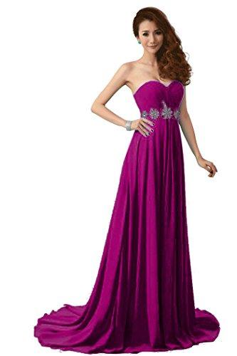 34 Beauty lila Emily Damen Zug trägerlosen Kleid Kapelle Hochzeit Größe Strass ZZwqvFr