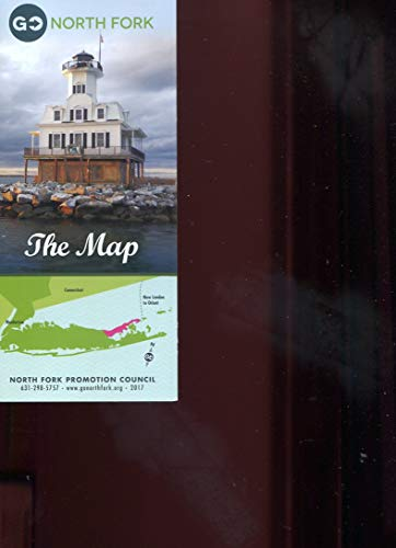NORTH FORK: THE MAP/NEIGHBORHOOD GUIDE/LONG ISLAND, NEW YORK/MAP/ITINERARIES/COLORFUL FOLDOUT BROCHURE+++