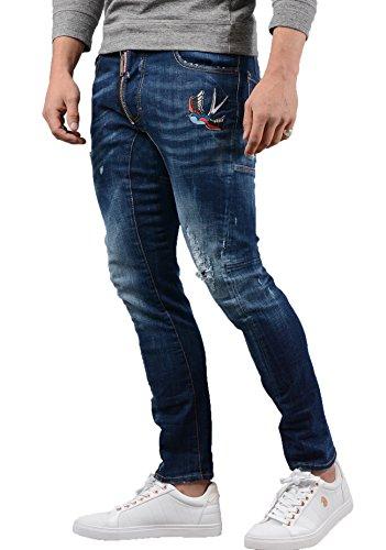 Dsquared2 Men Pants - DSQUARED2 Jeans - Mens S74LB0356 Tidy Biker Jean in Denim Blue