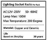 DiCUNO 12pcs Bi-Pin Base, G4, G6.35, GY6.35, GX5.3 MR16, GZ4 MR11, Halogen Incandescent Led Socket Ceramic Body Lamp holder (12pcs)