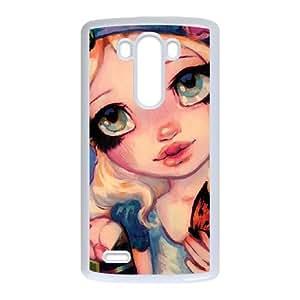 LG G3 Cell Phone Case White_The Talking Flowers Glcbv