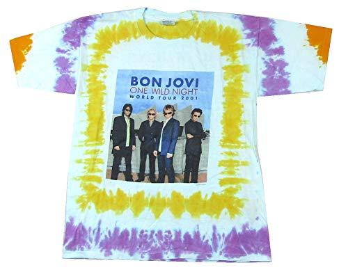 ght World Tour 2001 Tie Dye T Shirt (XL) Blue ()