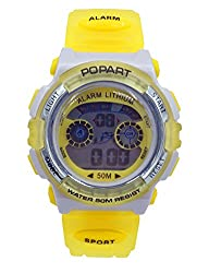 Aivtalk Kid Cute Watch Led 50M Water Resistant Digital Sports Watch Unisex Gift Wristwatch With Time,Date,Week,Count Digit,Chime,El-Light - Yellow