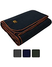 """Arcturus Military Wool Blanket - 4.5 lbs, Warm, Thick, Washable, Large 64"""" x 88"""" - Great for Camping, Outdoors, Sporting Events, or Survival & Emergency Kits"""