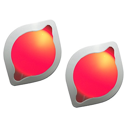 Pack of 2 Plug in LED Night Light, Dusk to Dawn Light Sensor Auto On/Off Bedroom Night Light Red