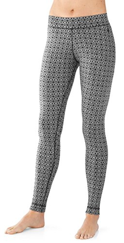 Smartwool Womens NTS Mid 250 Pattern Bottom (Dogwood White/Black) Large
