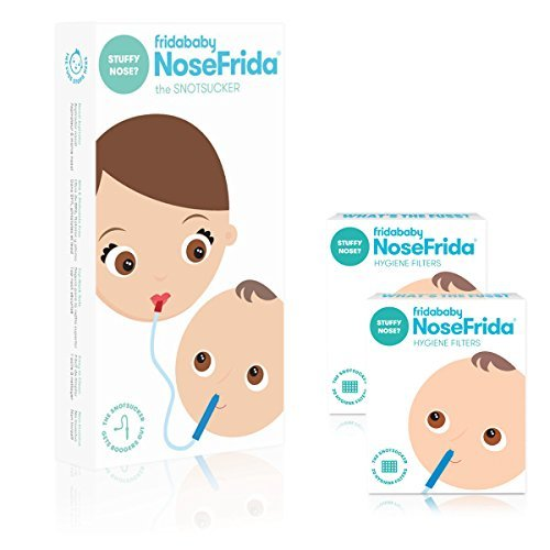 FridaBaby Nasal Aspirator with 40 Extra Hygiene Filters