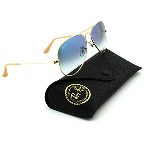 Ray-Ban RB3025 Aviator Large Metal Gradient Unisex Sunglasses (Gold  Frame Crystal Gradient a2be4ce25000