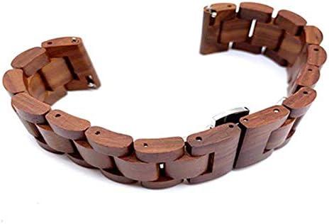RTYW ユニバーサル時計手作りのナチュラルウッドクイックリリース時計バンドDIY交換 (Band Color : Red brown, Band Width : 22mm)