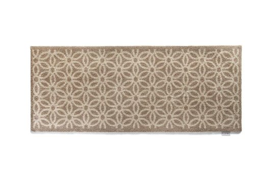 Hug Rug T218 Eco-Friendly Absorbent Dirt Trapping Indoor Washable Runner, 25.5-Inch x 59-Inch, Beige Daisy