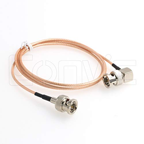 - BNC Male RA to BNC Plug Right Angle Pigtail Coaxial Cable RG179 100cm 75ohm
