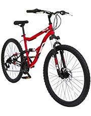 دراجة سبارتان 26 انش ريدج ماونتن - تعليق مزدوج MTB (احمر)