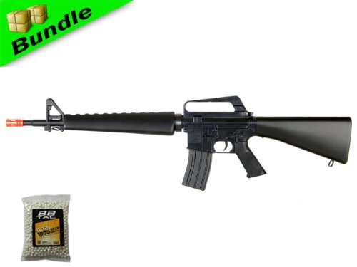 BBTac BT-BT16A2-+1000BB M16A2 Package Vietnam Style Spring Airsoft Gun Rifle with 1000 Ball Bearing -