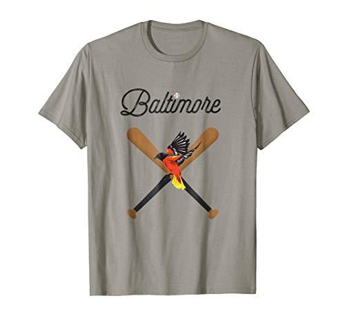 (Baltimore Oriole Baseball Bird Mascot Design T-Shirt)