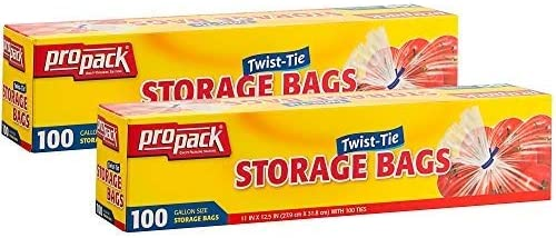 Gallon Size Plastic Food Storage Bags w// Twist Ties 60CT BUNDLE DEALS 4 OF JULY