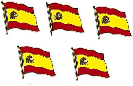 5er Pack España yantec Pin con diseño de bandera escocesa: Amazon ...