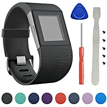 Fitbit Surge Band, BeneStellar Newest TPU Bracelet Strap Small&Large Replacement Band for Fitbit Surge Watch Fitness Tracker WatchBand Wristband Accessories