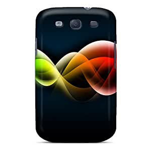 Fashionable Style Case Cover Skin For Galaxy S3- Colorful Waves