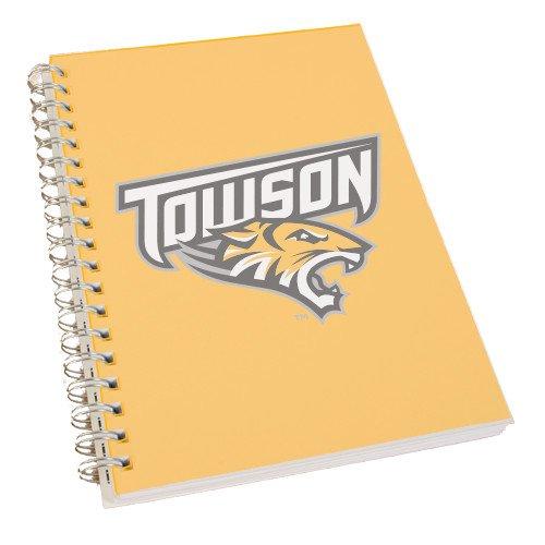 CollegeFanGear Towson Clear 7 x 10 Spiral Journal Notebook 'Official Logo' by CollegeFanGear