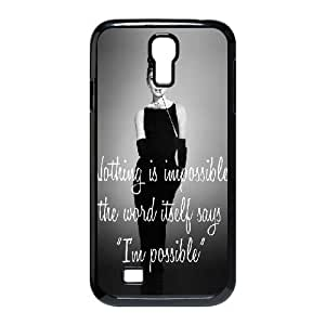 Audrey Hepburn Quotes Brand New Cover Case for SamSung Galaxy S4 I9500,diy case cover ygtg-780883