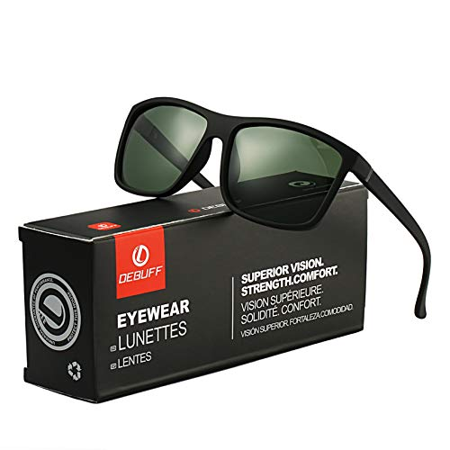 DeBuff Mens Square Polarized Sunglasses Stylish Driving Sun Glasses - TAC, UV400