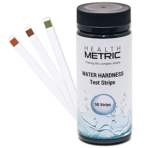 (Water Hardness Test Strips - Quick and Easy Testing Kit with 50 Strips at 0-425 ppm | Calcium and Magnesium Total Hardness Test | Ideal for Water Softener Dishwasher Well Spa and Pool Water)