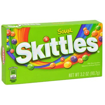 Skittles Sour Bite Size Candies 12 - 3.2 oz each (12 in a case) by Skittles