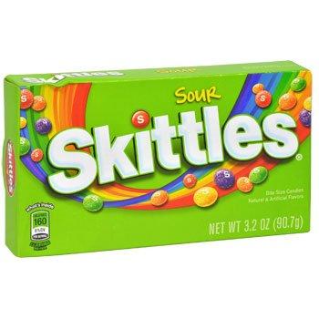 Sour Skittles Bite - Skittles Sour Bite Size Candies 12 - 3.2 oz each (12 in a case)
