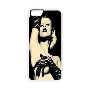 IPhone 6 Plus Case Sexy Christina Aguilera, IPhone 6 Plus Case Christina Aguilera Cheap for Girls, [White]